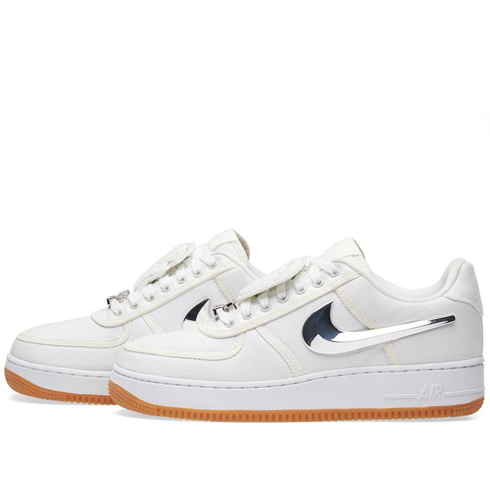 48a042e75364 Nike Air Force 1 Low  Travis Scott  Triple White