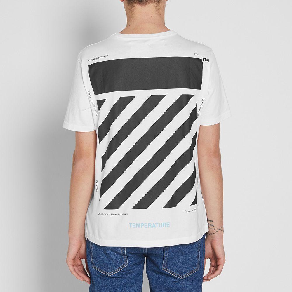 44b03fc5c088 Off-White Diagonal Temperature Slim Tee White   Black