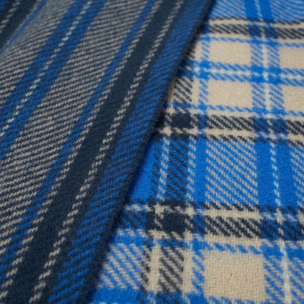 ebba938da1752 Acne Studios Cassiar Check Scarf Royal Blue   Grey