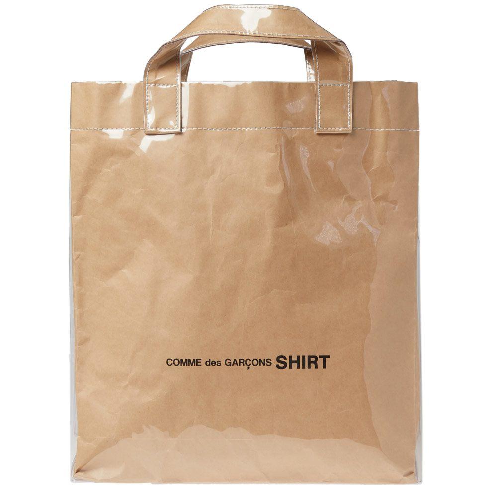 c58faab897 Comme des Garcons SHIRT PVC Kraft Paper Messenger Tote Bag Kraft