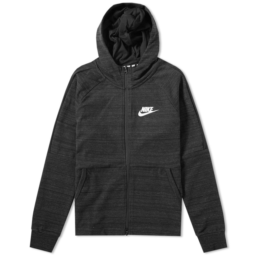 32ffc2515235 Nike Advance 15 Hooded Jacket Black   White