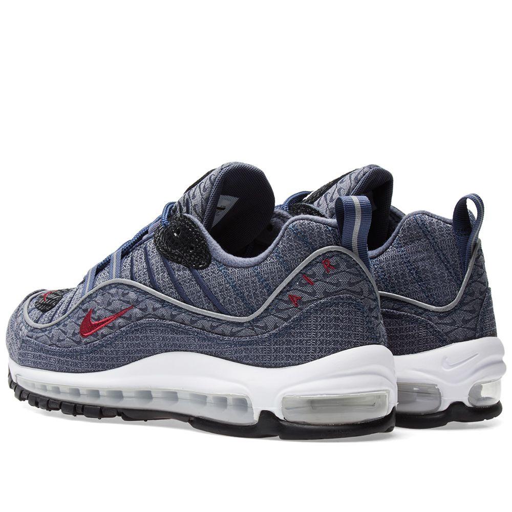 83baf6f387611b Nike Air Max 98 QS Thunder Blue   Team Red