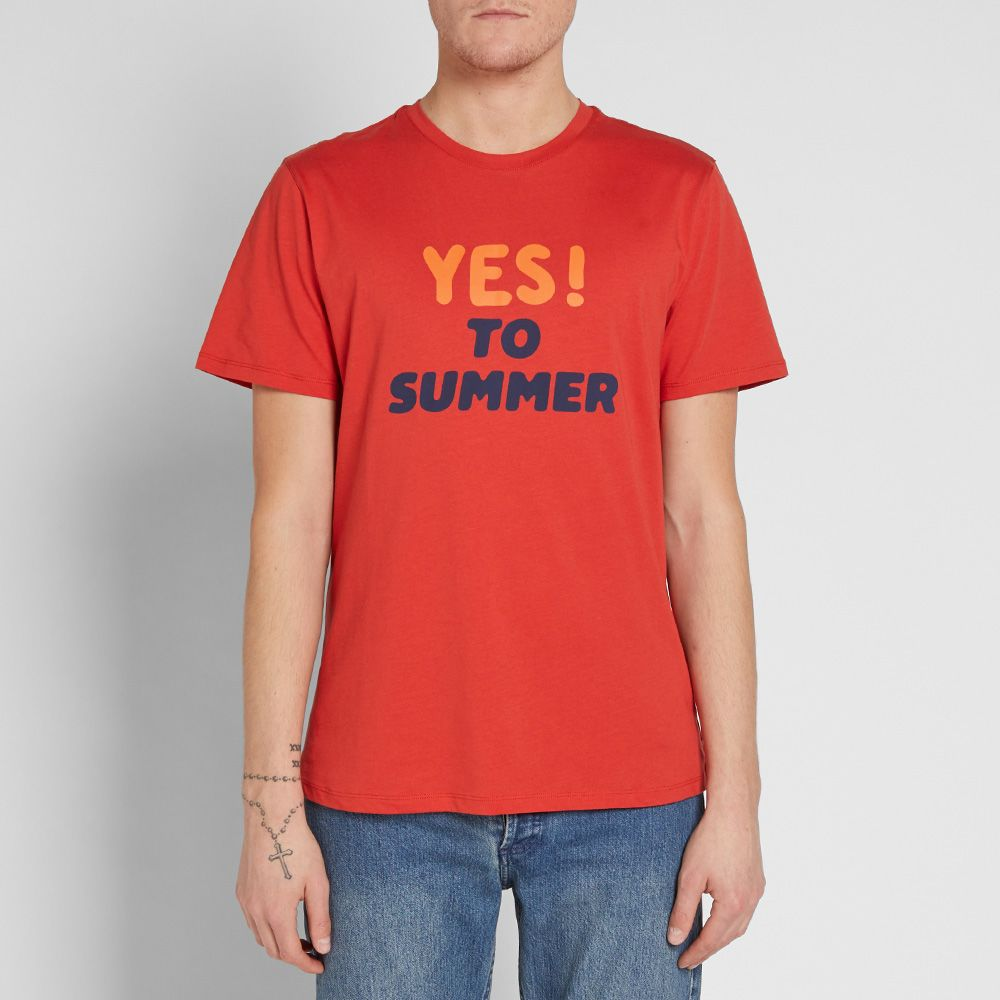7fd9ad7ade75 A.P.C. Yes To Summer Tee Red