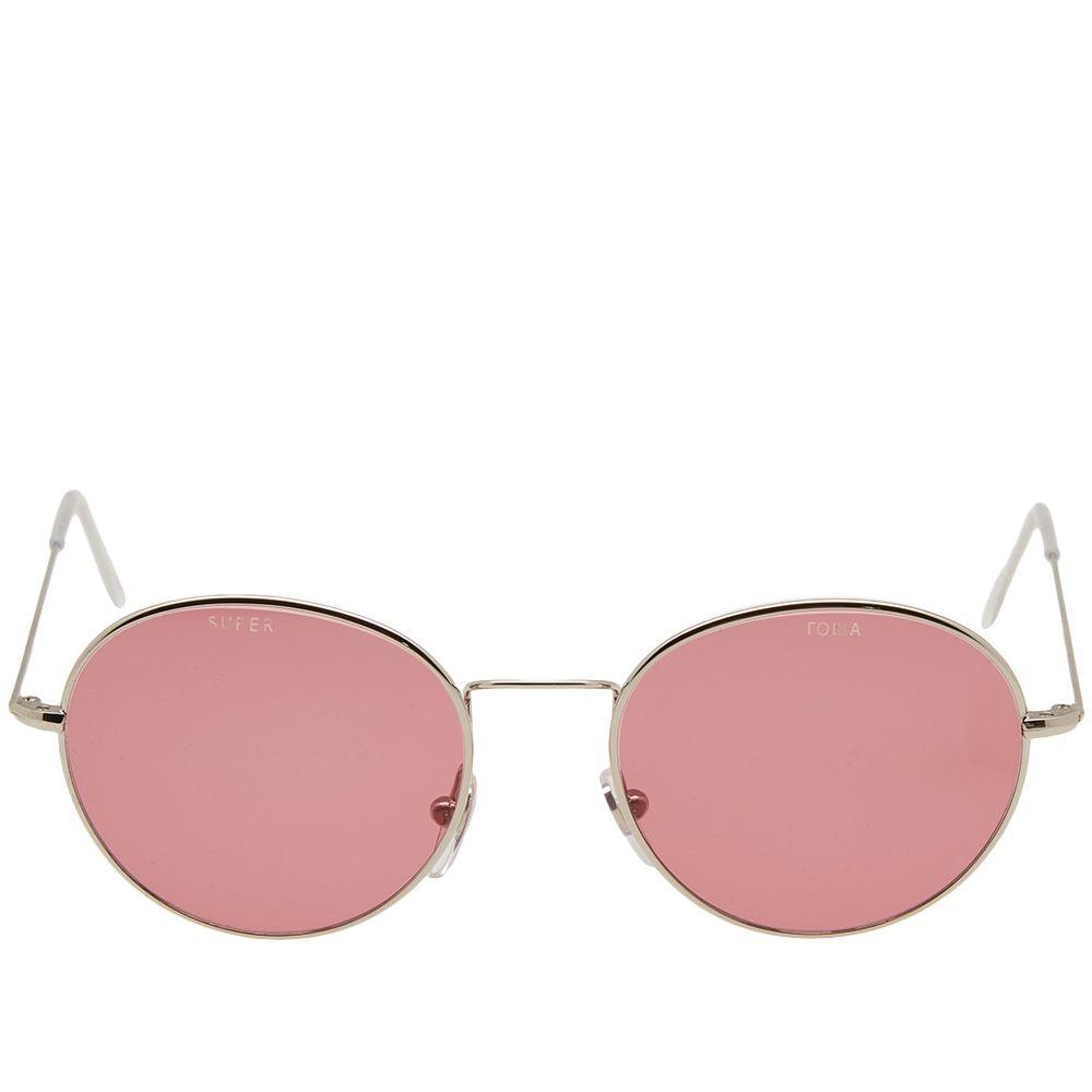 b02d358e314 Gosha Rubchinskiy x SUPER by RETROSUPERFUTURE Wire Sunglasses Pink ...
