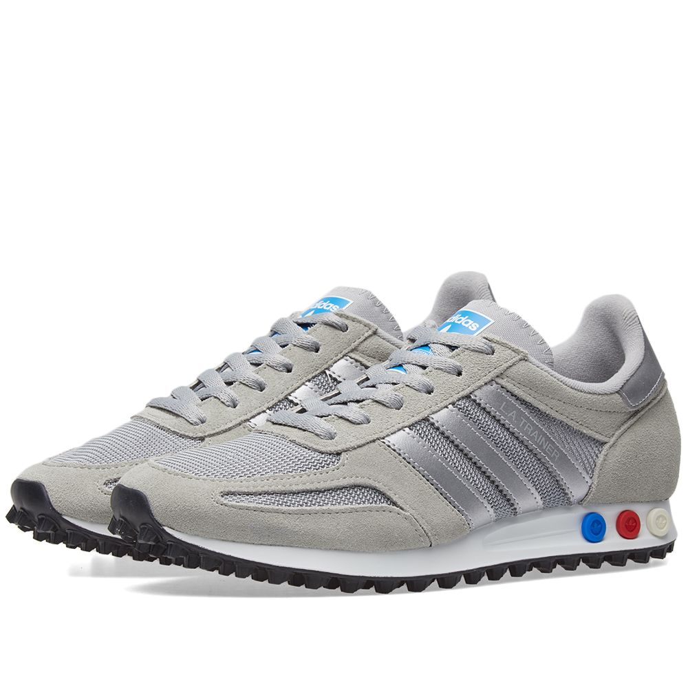 info for 776bf f00be Adidas LA Trainer Grey, Metallic Silver  White  END.