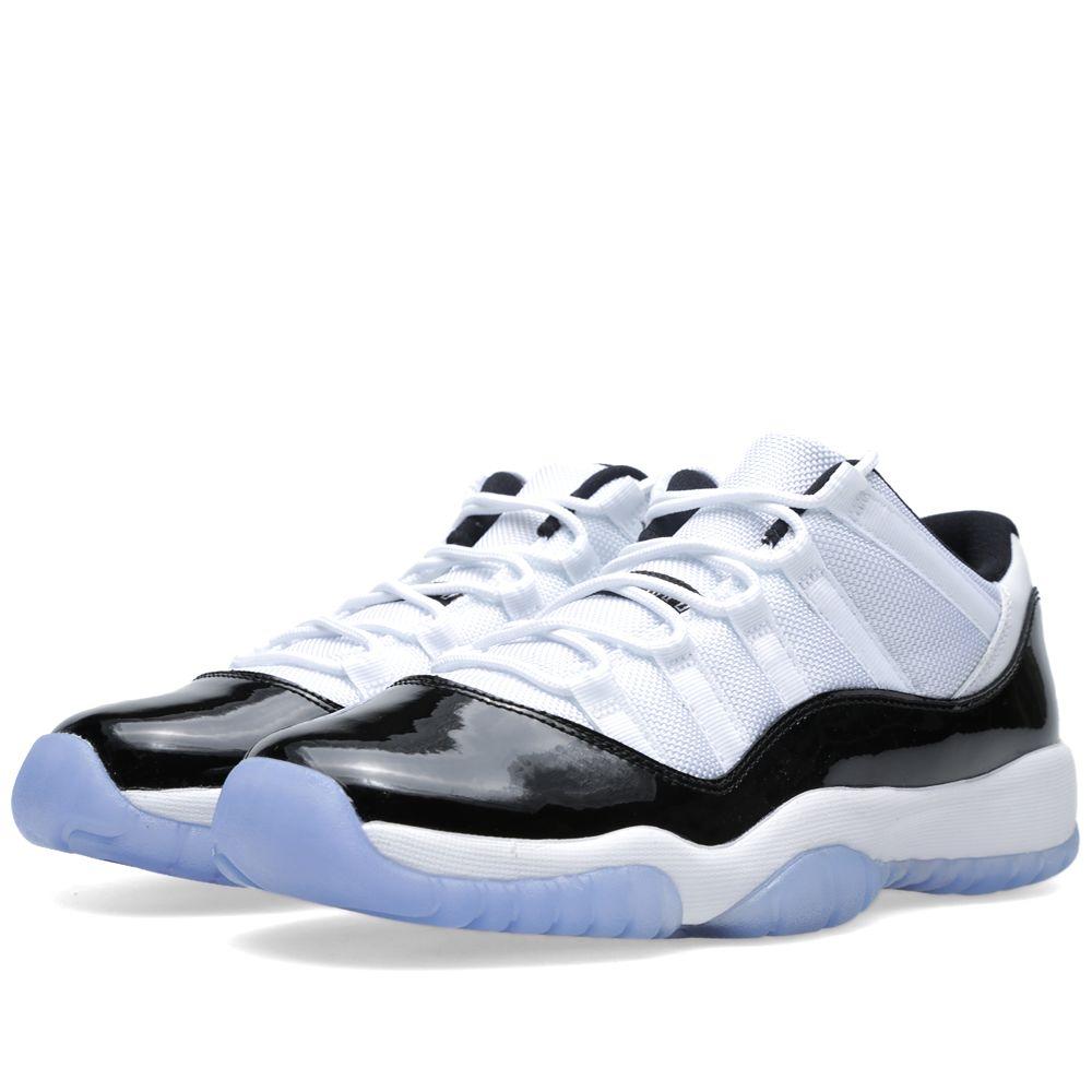 purchase cheap bd030 a0b1a Nike Air Jordan XI Retro Low BG  Concord  White, Black   Dark ...