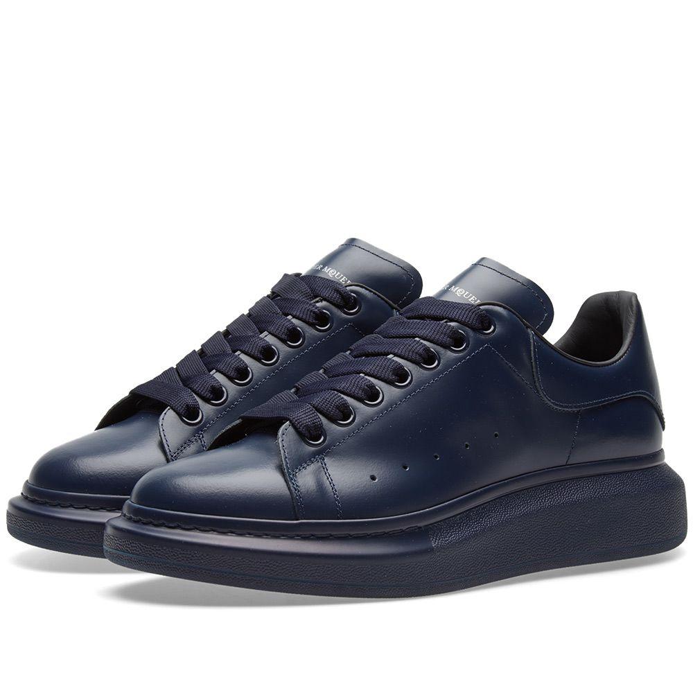 d6e06f8d3eb1e Alexander McQueen Wedge Sole Sneaker Triple Navy