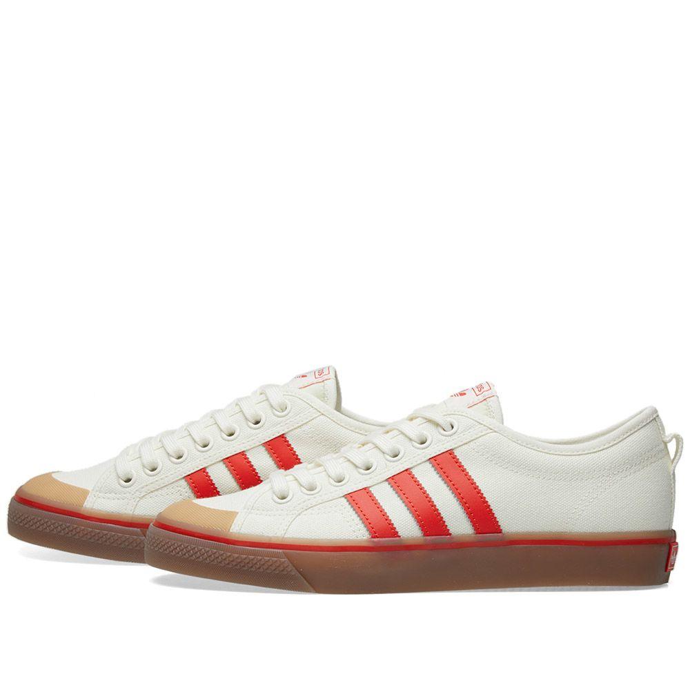 fb0a60853365 Adidas Nizza Off White   Core Red