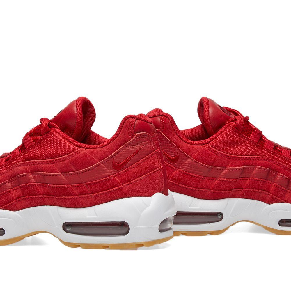 9d689082ad56 Nike Air Max 95 Premium Gym Red   White