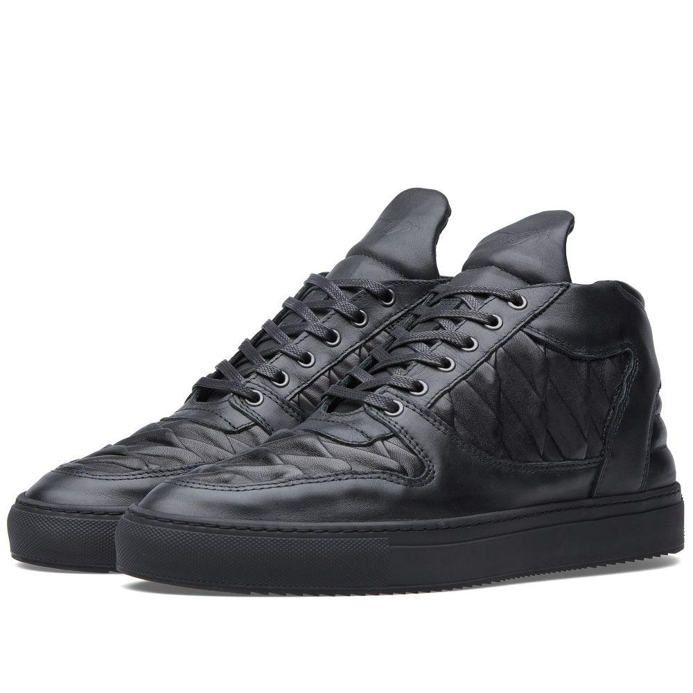 1606c5af2e7 Filling Pieces Mid Top Sneaker Black Salmon