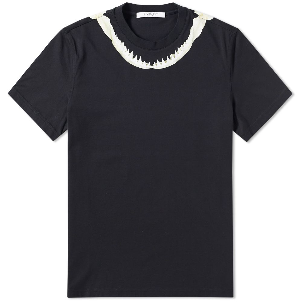 Givenchy Shark Jaw Tee Black  10c00d6f7c
