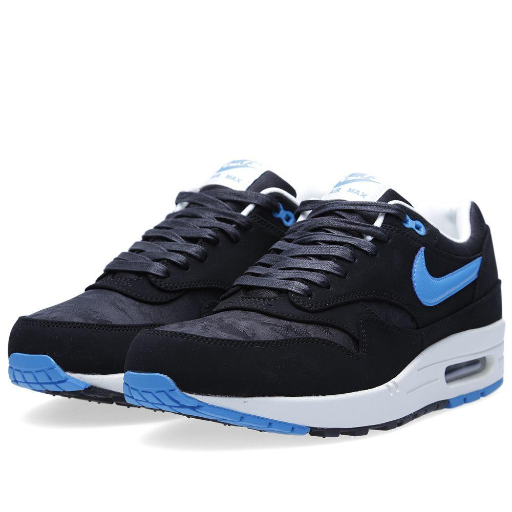 83eb87023efd31 Nike Air Max 1 Premium Black   Blue Hero
