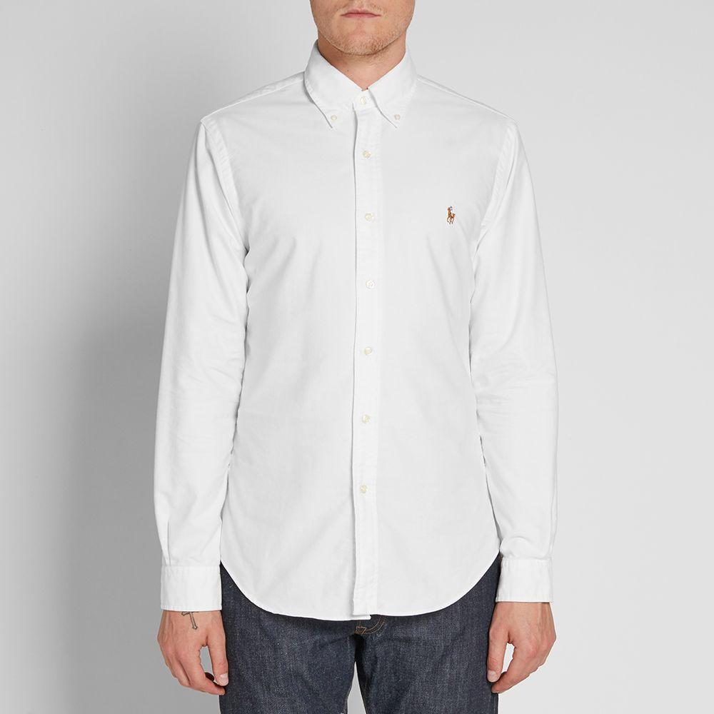 cf2229cbd6328 Polo Ralph Lauren Slim Fit Button Down Oxford Shirt White
