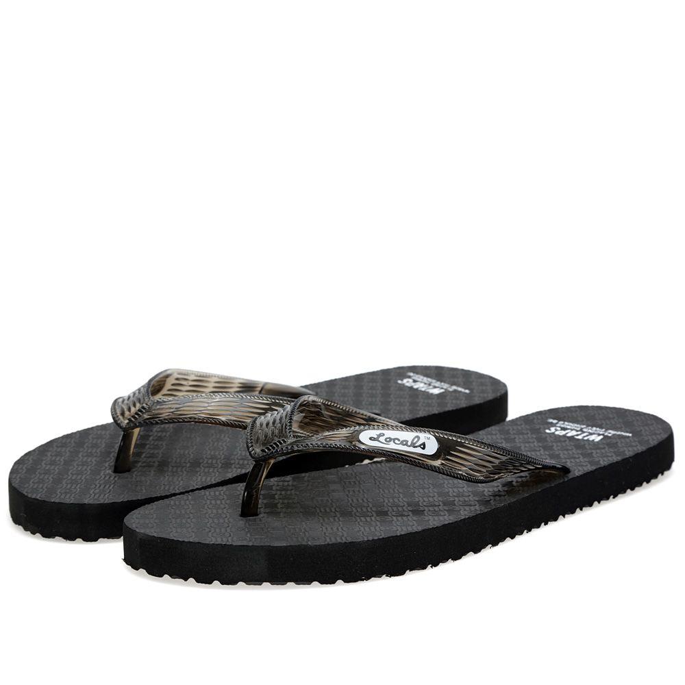4bdd62a9be87 WTAPS x Locals Flip-Flops Black
