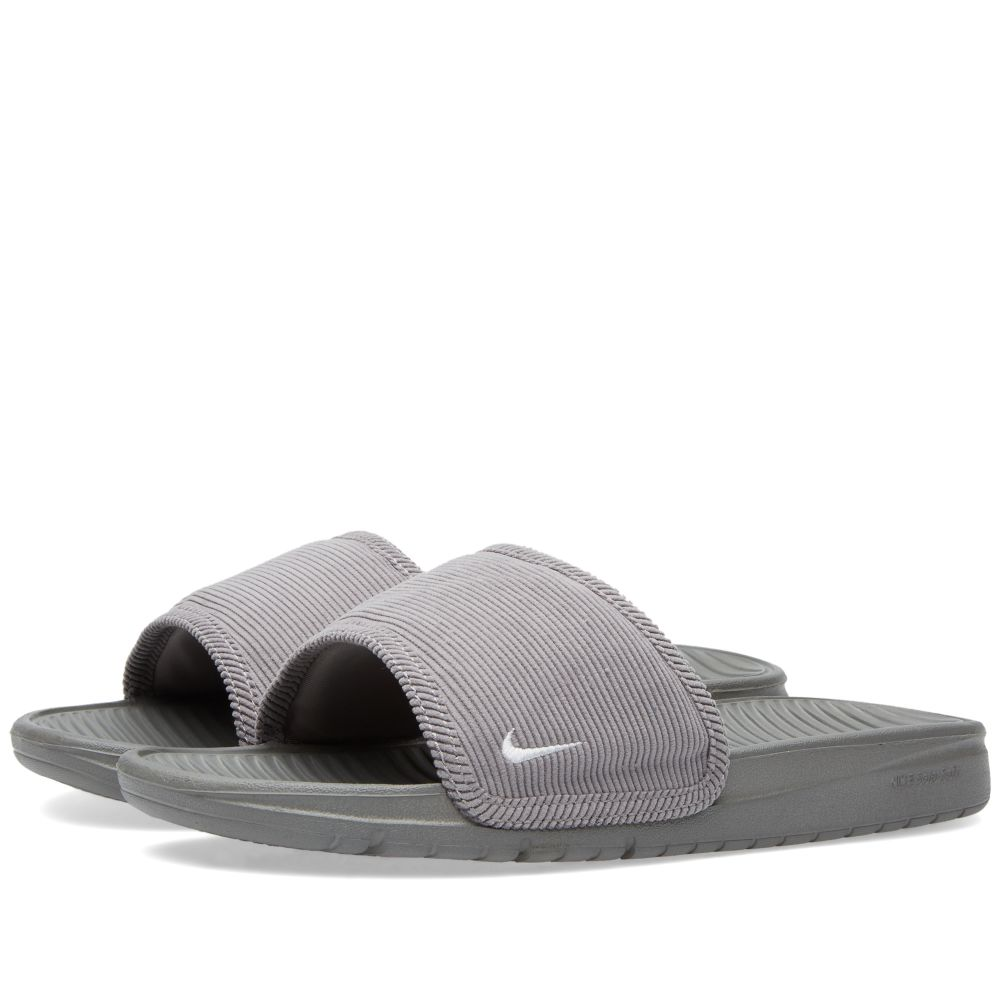 62cab212029946 Nike Benassi Solarsoft Slide SP Canyon Grey   White