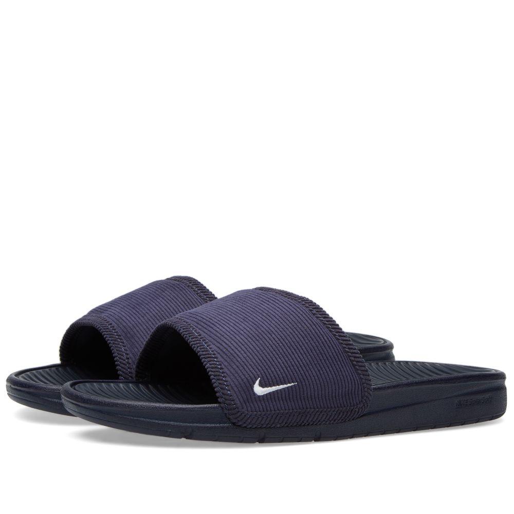 6f0de12e60a8ca Nike Benassi Solarsoft Slide SP Obsidian   White