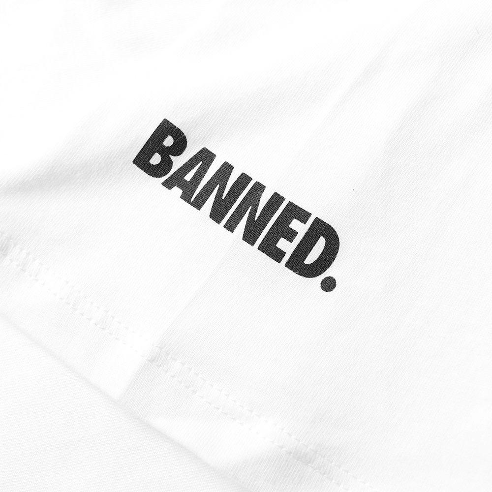 a9a4d05e82d9 Nike Air Jordan 1 Banned Logo Tee White   Black