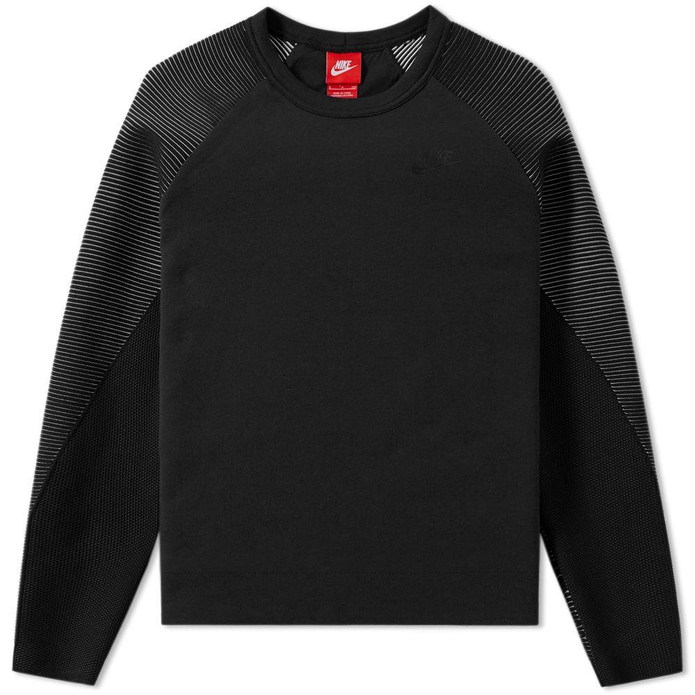 reputable site 76ee4 dcfc5 Nike Women s Tech Fleece Mix Crew Black   Black   END.