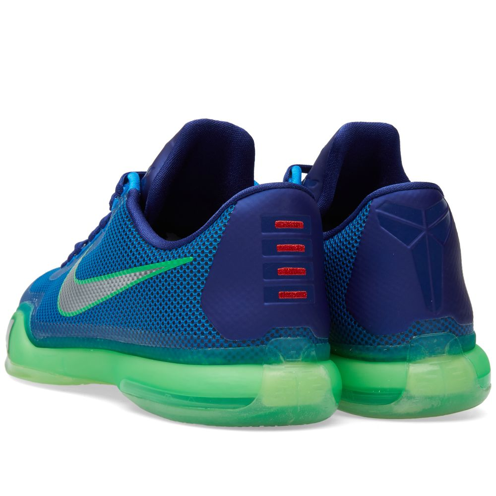 13c668e26d11 Nike Kobe X  Emerald City  Soar   Metallic Silver