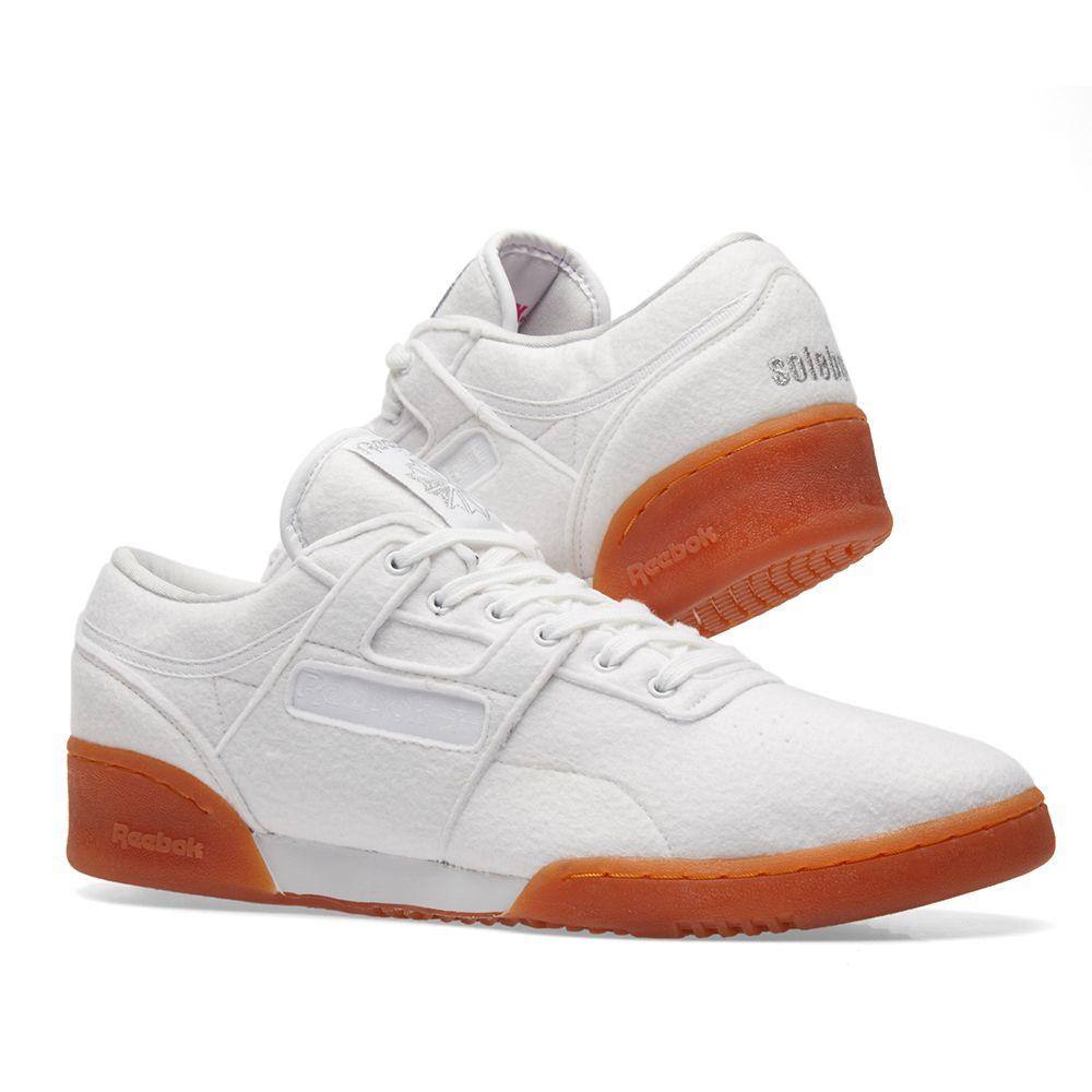 d0e0c8bfa4e Reebok x Solebox Workout Low Clean TX White