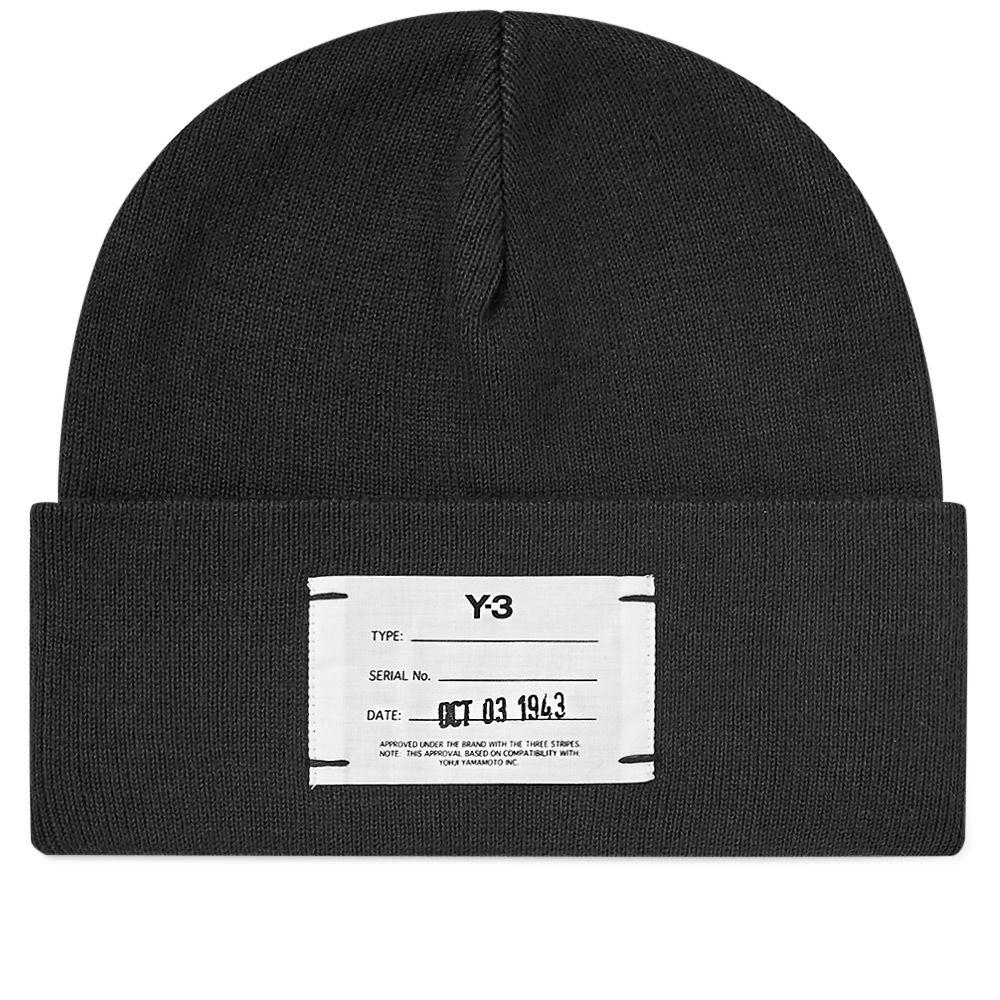 0b6b88d0c2b Y-3 Logo Beanie Black