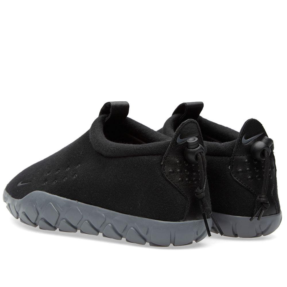 Nike Air Moc Tech Fleece Black   Cool Grey  7397584cae