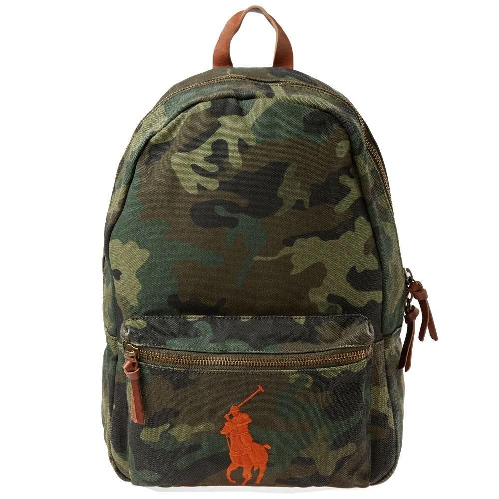 Polo Ralph Lauren Polo Player Canvas Backpack Camo  97b72cd2d7603