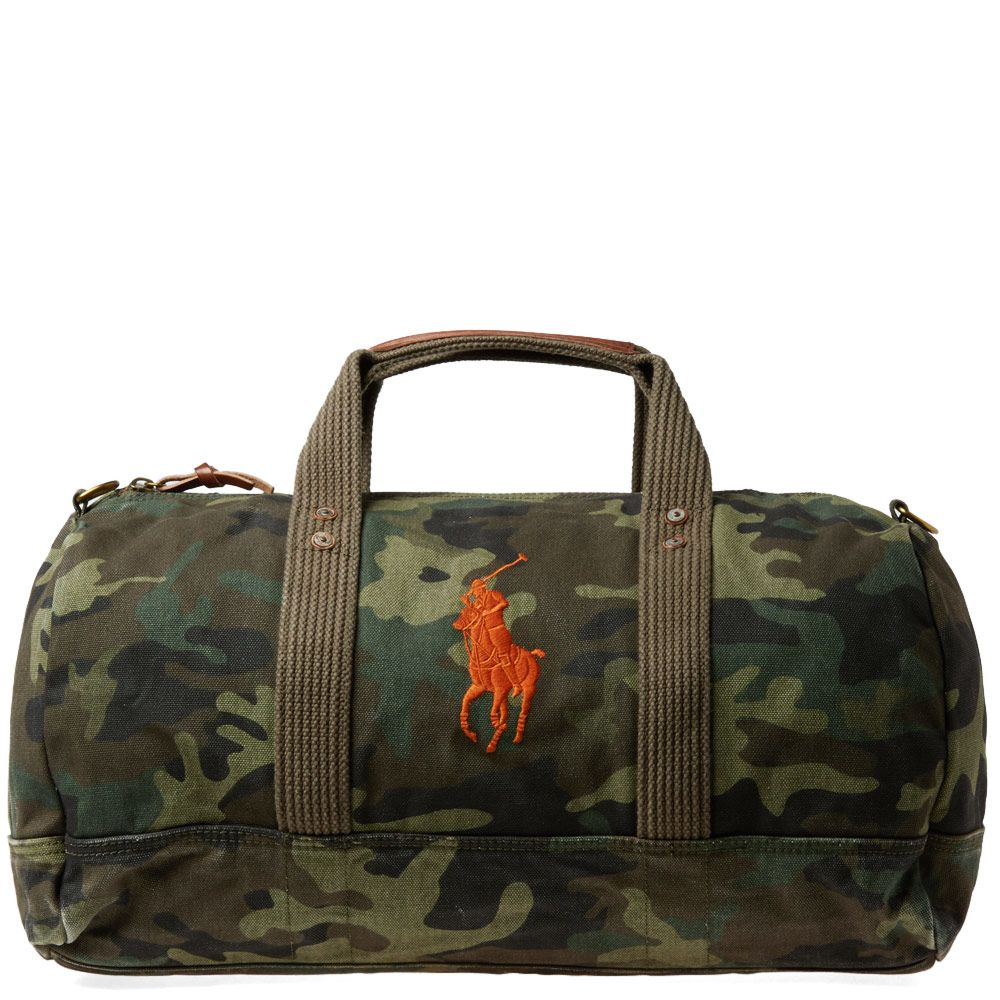560254399fa9 Polo Ralph Lauren Polo Player Canvas Duffle Bag Camo