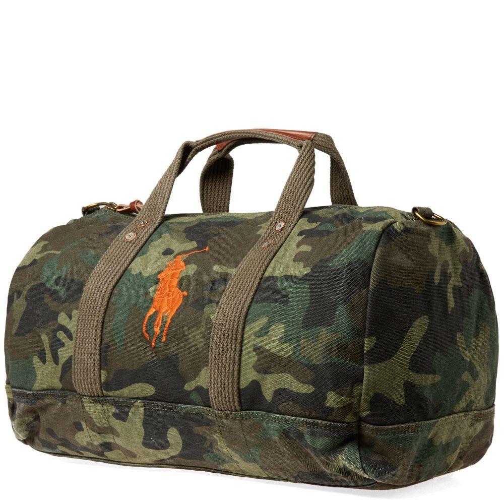 511eda0938 Polo Ralph Lauren Polo Player Canvas Duffle Bag Camo