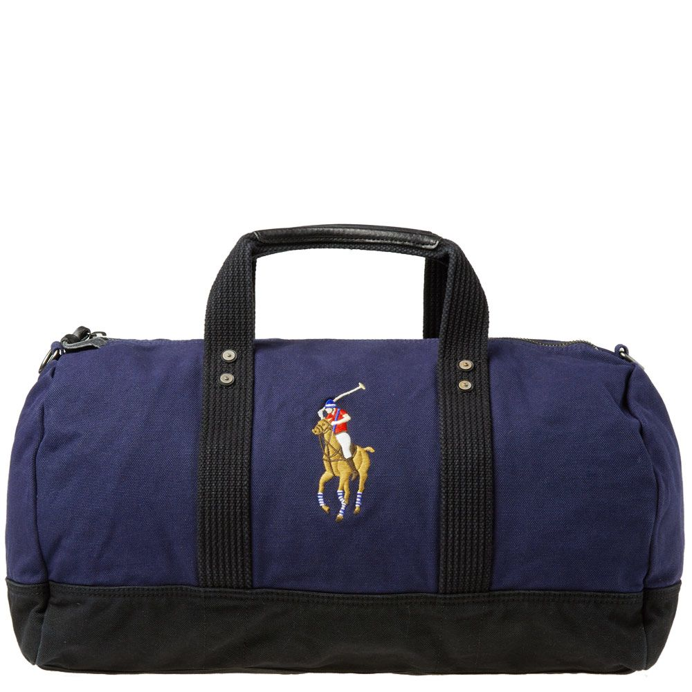 5a26163ef0f9 Polo Ralph Lauren Polo Player Canvas Duffle Bag Navy