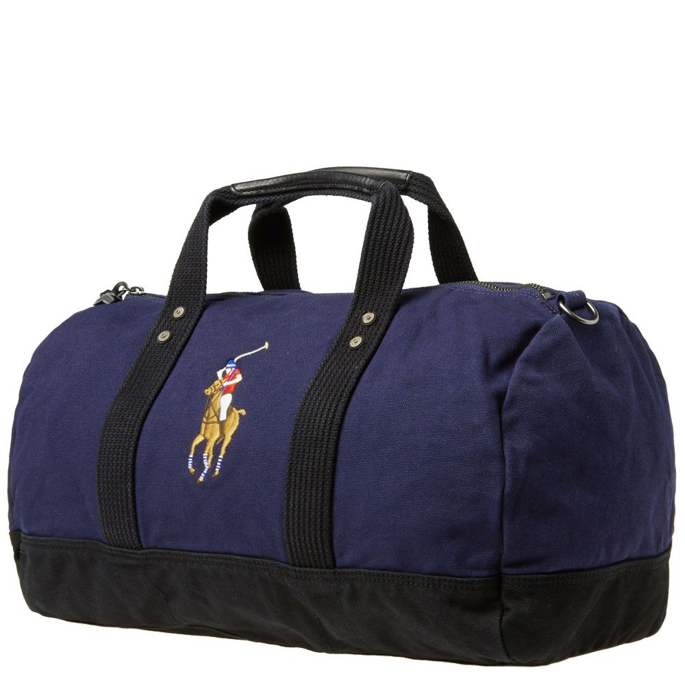 Polo Ralph Lauren Polo Player Canvas Duffle Bag. Navy. AU 309. Plus Free  Shipping. image. image b873863ab42