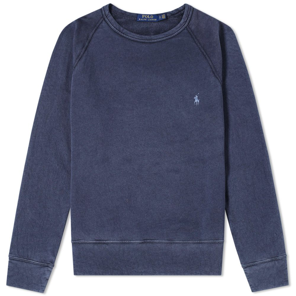 Polo Ralph Lauren Washed French Terry Crew Sweat Aviator Navy   END. ea4a8dbd79d4