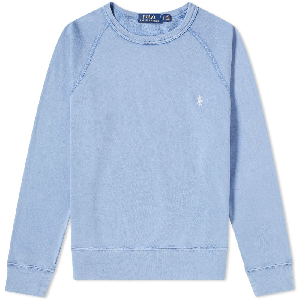 Polo Ralph Lauren Washed French Terry Crew Sweat City Blue   END. aa3352f00c74