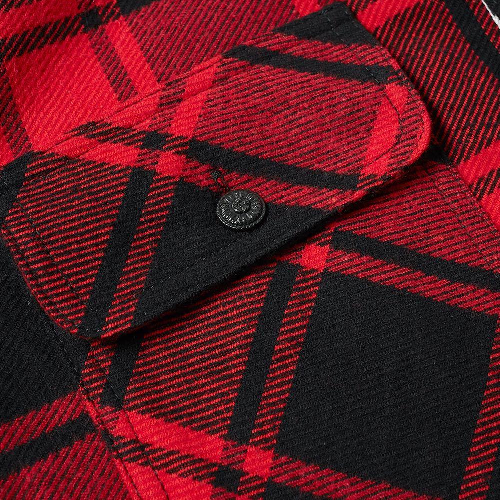 e7ca2a402e29 Off-White Quote Flannel Shirt. Red   White. ₩558