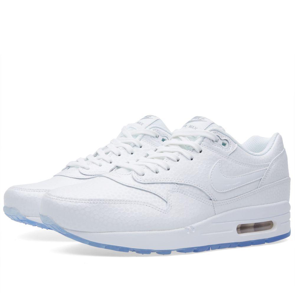 timeless design b0345 cdab9 Nike Air Max 1 Premium. White  Metallic Silver. £97 £65. image