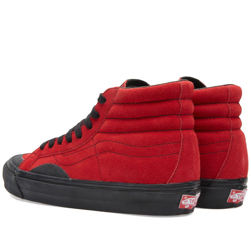 030a6cbfcff37f Gosha Rubchinskiy x Vans Sk8-Hi Suede Red