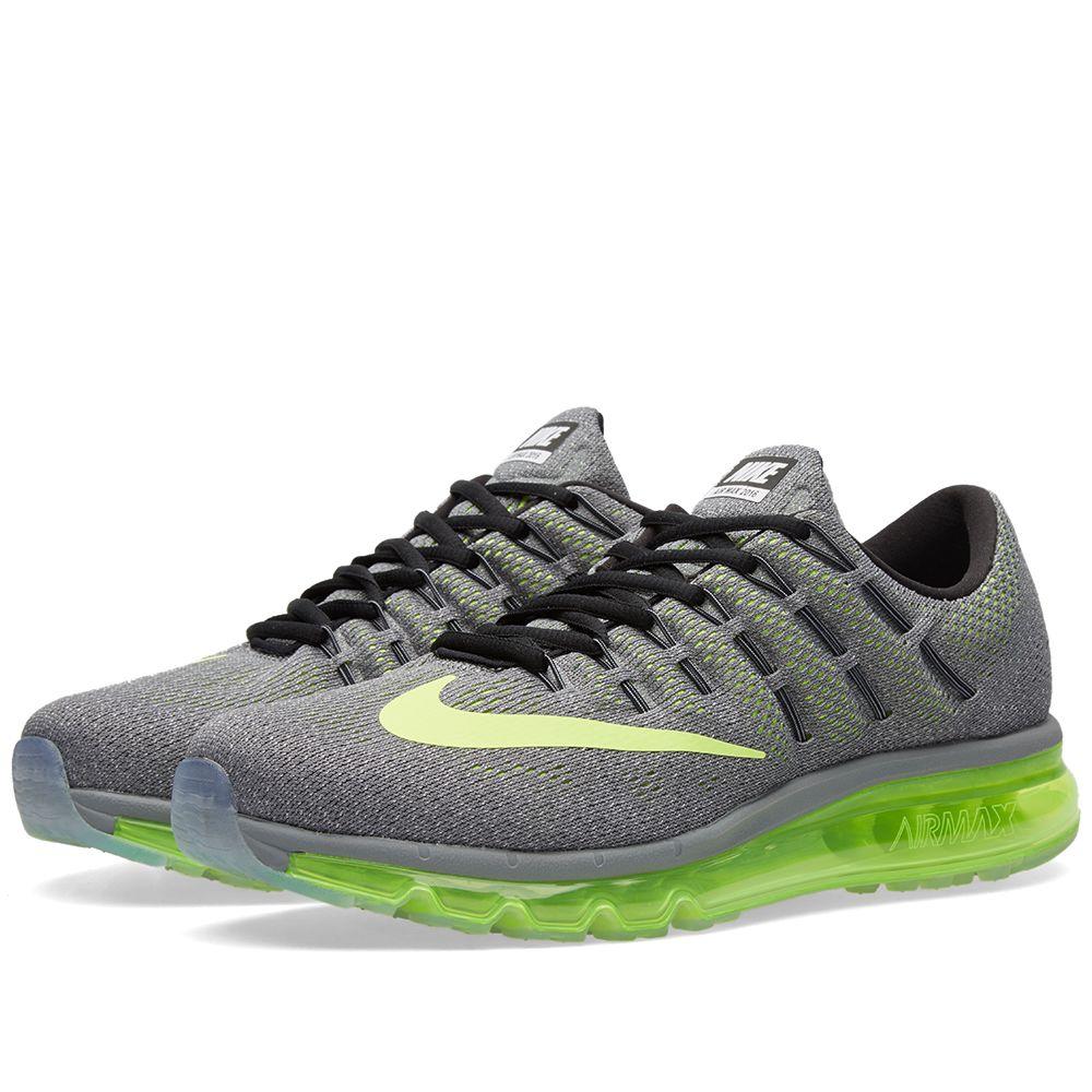 huge discount d1a1e 6173d Nike Air Max 2016 Cool Grey, Volt  Black  END.
