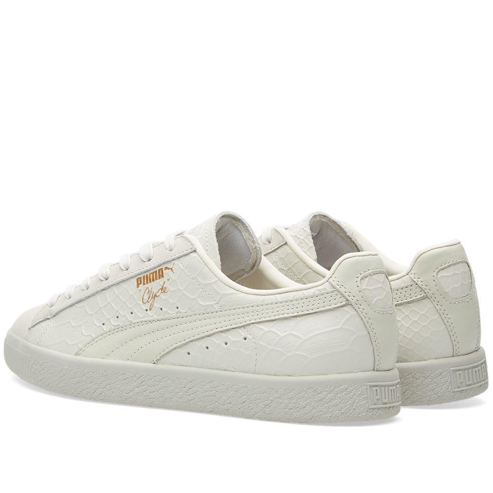 ffe45644edb1 Puma Clyde Premium Whisper White