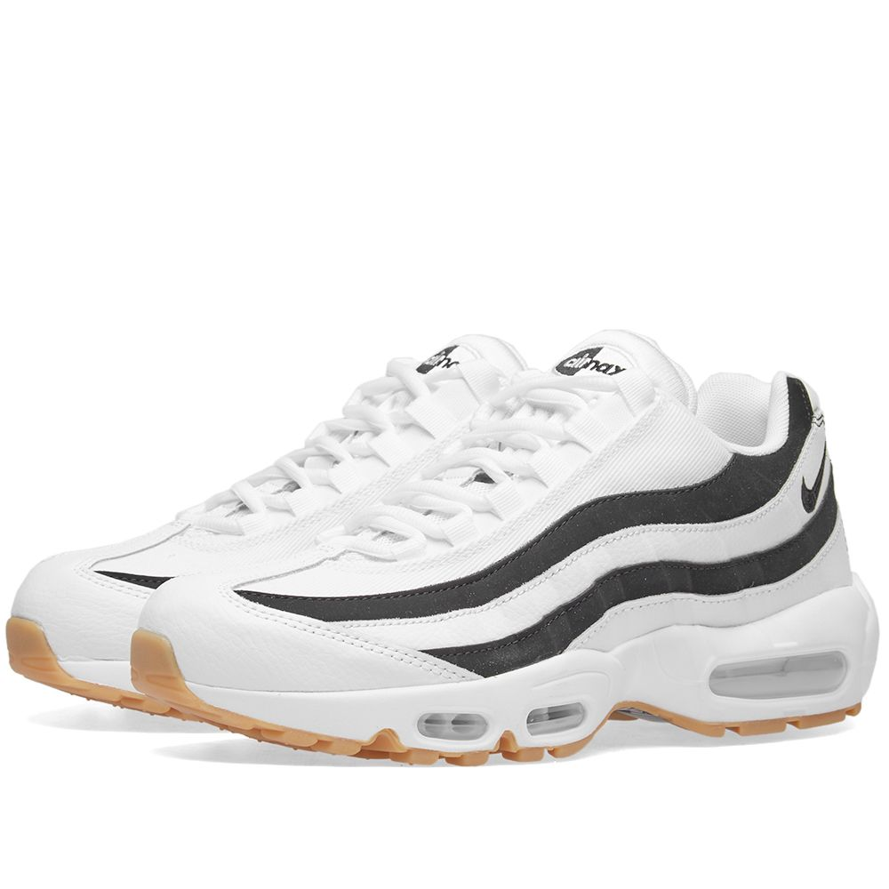 best sneakers 276d8 aa474 Nike Air Max 95 W White, Black   Gum Light Brown   END.