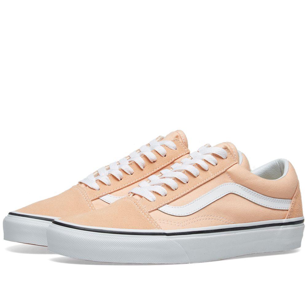 Vans Old Skool Bleached Apricot   True White  0eb5c901d