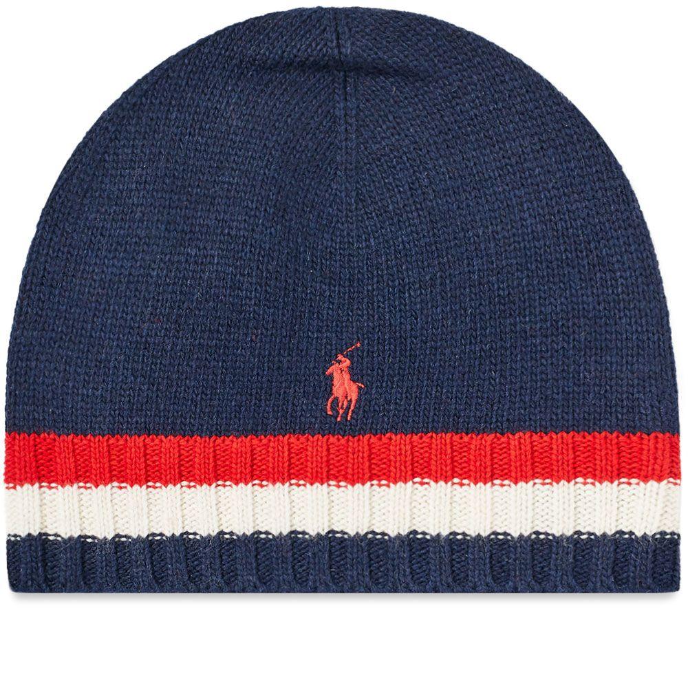 Polo Ralph Lauren Flag Stripe Beanie. Navy. £49. image 774923defc7