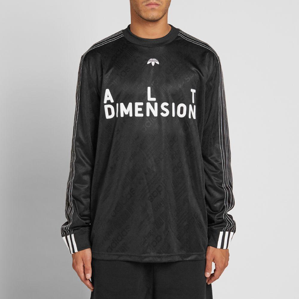 ed6fc8995cbd Adidas Originals by Alexander Wang Long Sleeve Soccer Jersey. Black   White