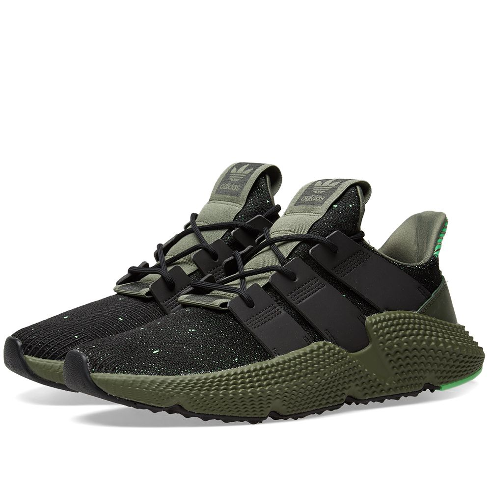 super popular 33574 dab5f Adidas Prophere Core Black  Shock Lime  END.