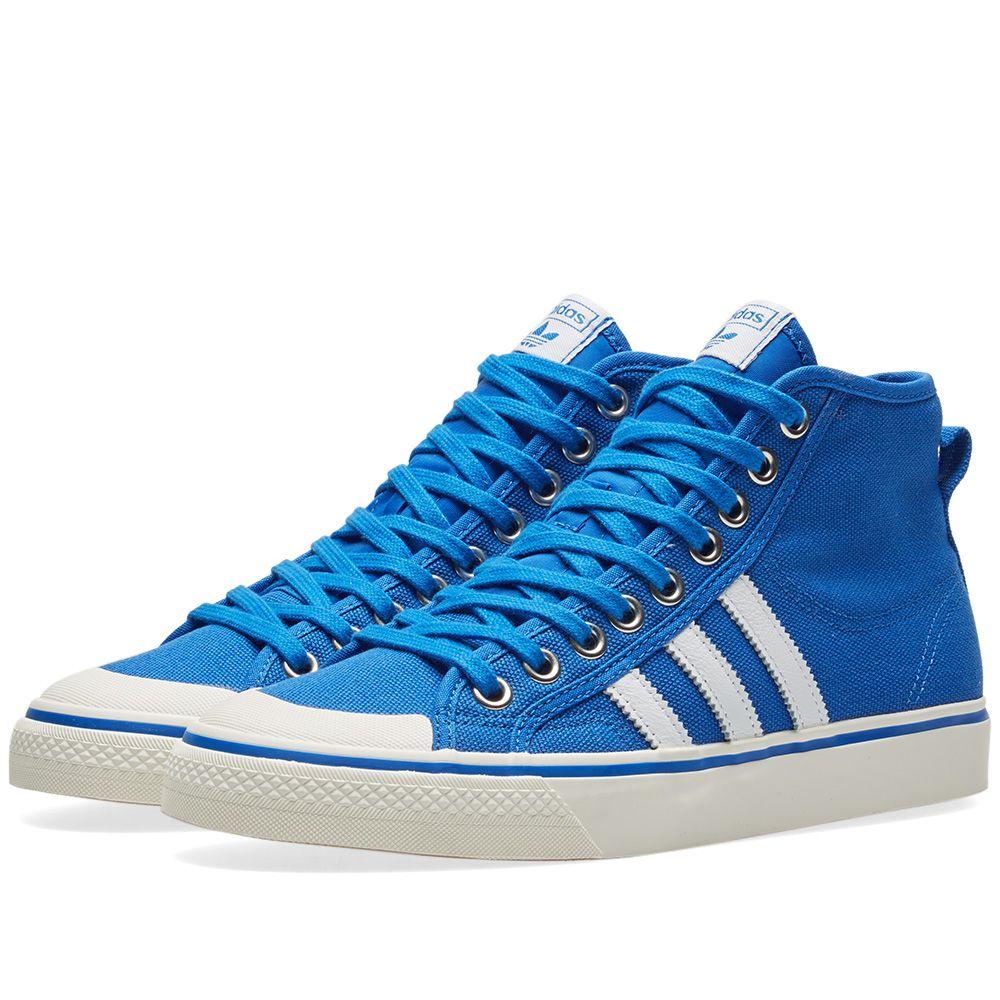 952c666e31a2 Adidas Nizza Hi Blue   Off White