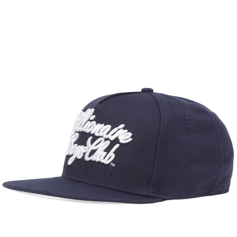 75124da3b1d68 Billionaire Boys Club Script Logo Snapback Cap Navy