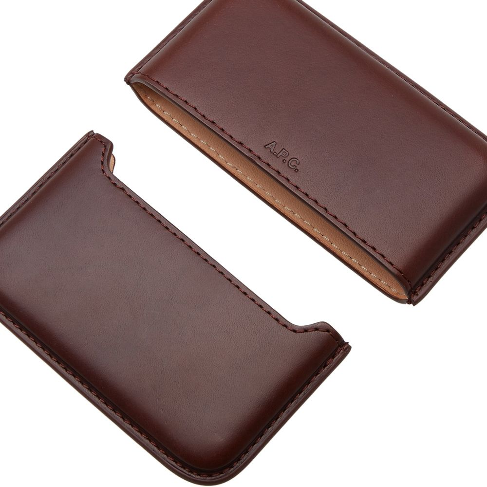 Apc Magna Carta Business Card Holder Brown End