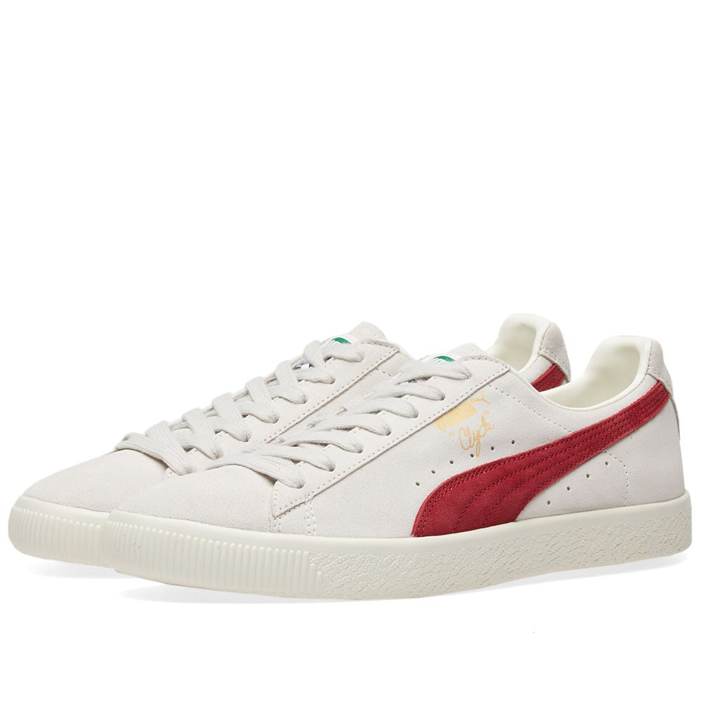 2534970c2da Puma Clyde From The Archive Vaporous Grey   Red Dahlia