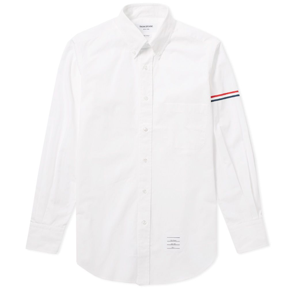 1cd5c76532a Thom Browne Arm Band Button Down Oxford Shirt White