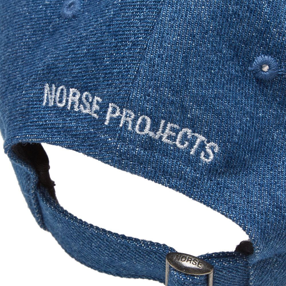 51d4869fbe1 Norse Projects Denim Sports Cap. Stone Wash. £75. image. image. image.  image. image