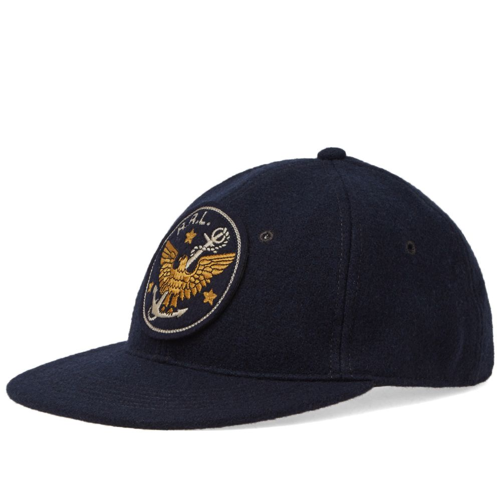 RRL Fitted Ball Cap Navy  cdd54168801e